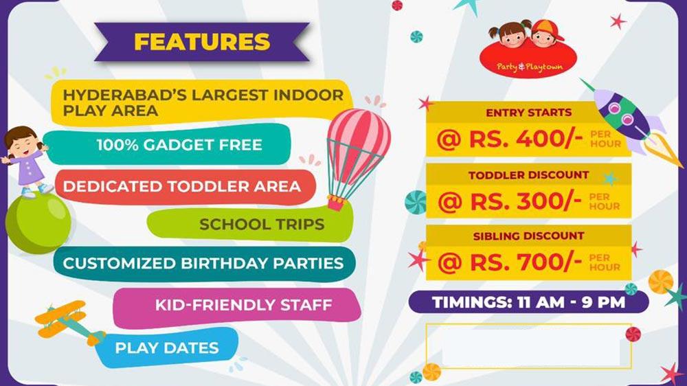 Kids entertainment zones
