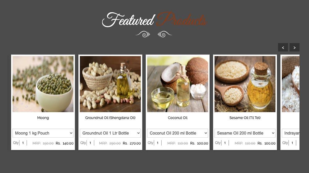 food ecommerce business